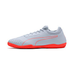 365 Sala 2 Men's Soccer Shoes, Grey Dawn-Nrgy Red, small