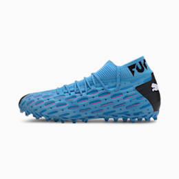 Męskie buty piłkarskie FUTURE 5.1 NETFIT MG, Blue-Nrgy Blue-Black-Pink, small