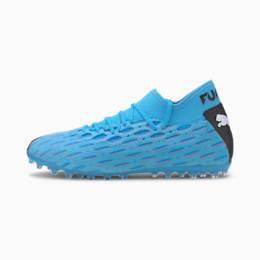 Męskie buty piłkarskie FUTURE 5.2 NETFIT MG, Blue-Nrgy Blue-Black-Pink, small