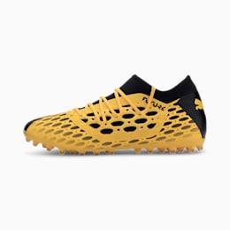 Męskie buty piłkarskie FUTURE 5.3 NETFIT MG, ULTRA YELLOW-Puma Black, small