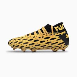 Młodzieżowe buty piłkarskie FUTURE 5.1 NETFIT FG/AG, ULTRA YELLOW-Puma Black, small