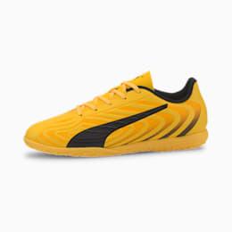 Botas de fútbol para jóvenes PUMA ONE 20.4 IT, YELLOW-Puma Black-Orange, small