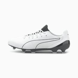 KING Platinum Lazertouch FG/AG voetbalschoenen voor heren, Puma White-Puma Black, small