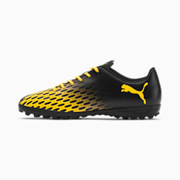 PUMA Spirit III TT Men's Soccer Shoes, Puma Black-ULTRA YELLOW, small