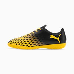 PUMA Spirit III IT Men's Soccer Shoes, Puma Black-ULTRA YELLOW, small