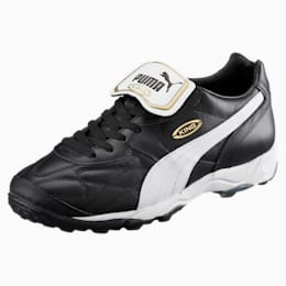 King Allround TT Men's Soccer Shoes, black-white-team gold, small