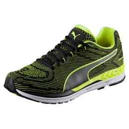 Speed 600 S IGNITE Men's Running Shoes, Puma Black-Safety Yellow, small-IND