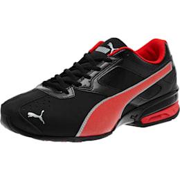 Zapatos deportivos Tazon 6 FM Wide para hombre, Negro-Rojo-Plateado, pequeño