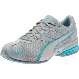 Tazon 6 Knit Women's Sneakers, Quarry-Silver-Nrgy Turquoise, small