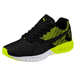 IGNITE Dual Mesh Kids' Running Shoes, Puma Black-Nrgy Yellow, small-IND