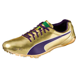 Bolt evoSPEED Electric Legacy Spike Shoes, Violet Indigo-Jelly Bean, small