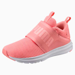 Enzo Strap Mesh Women's Shoes, Soft Fluo Peach-Puma White, small-IND