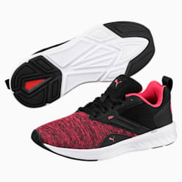 NRGY Comet Running Shoes, Puma Black-Paradise Pink, small-IND
