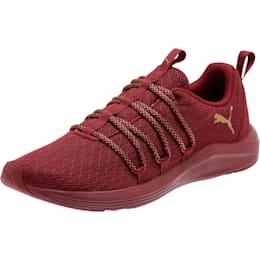 Prowl Alt Knit Mesh Women's Running Shoes, Cordovan-Metallic Gold, small
