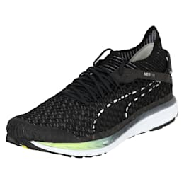 Speed IGNITE NETFIT 2 Men's Running Shoes, Black-QUIET SHADE-White, small-IND