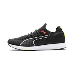 SPEED RACER Men's Running Shoes, Black-Nrgy Red-Yellow Alert, small