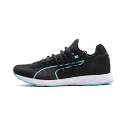 SPEED RACER Women's Running Shoes, Black-Milky Blue-Pink Alert, small