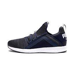 Mega NRGY Heather Knit Men's Running Shoes, Peacoat-Iron Gate-White, small