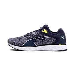 SPEED FUSEFIT Men's Running Shoes, Peacoat-White-Blazing Yellow, small-IND
