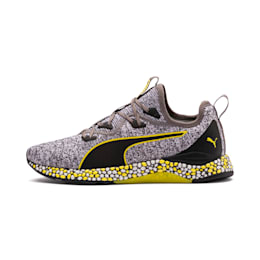 HYBRID Runner Men's Running Shoes, Black-White-Blazing Yellow, small