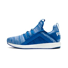 Mega Energy Heather Knit Kids' Running Shoes, Strong Blue-White, small-IND
