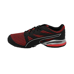 Tazon Modern Two Tone Puma Black-Ribbon, Black-Ribbon Red-Aged Silver, small-IND