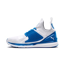 IGNITE Limitless 2 evoKNIT Trainers, Puma White-Strong Blue, small