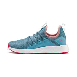 NRGY Neko Knit Running Shoes JR, M Blue-Bluestone-C Coral-Wht, small