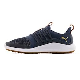 IGNITE NXT SOLELACE Men's Golf Shoes, Peacoat-Gold, small