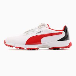 ゴルフ ドライブ フュージョン ディスク スパイクシューズ, White-High Risk Red, small-JPN