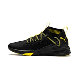 Mantra Caution Men's Training Shoes, Puma Black-Blazing Yellow, small