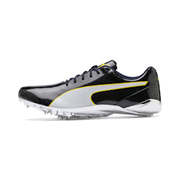 evoSPEED Electric 7 Sprint Men's Track Spikes, Black-Blazing Yellow-White, small