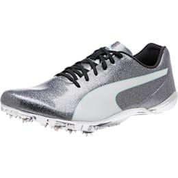 evoSPEED Electric 7 Sprint Men's Track Spikes, Steel Gray-Fair Aqua-White, small