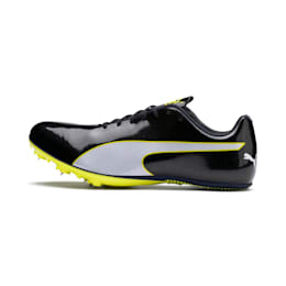 evoSPEED Sprint 9 Running Shoes, Black-Blazing Yellow-White, small-IND