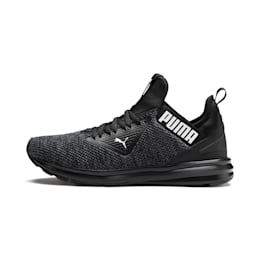 Enzo Beta Woven Men's Running Shoes, Puma Black-Asphalt, small-IND