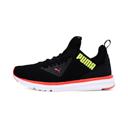 Enzo Beta Woven Men's Running Shoes, Puma Black-Nrgy Red-Y Alert, small-IND