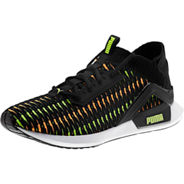Rogue Corded Men's Sneakers, Puma Black-Orange Pop, small