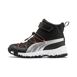 Maka V Youth Trainers, Puma Black-Nrgy Red, small