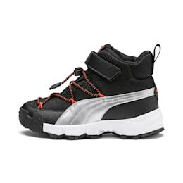 Maka V Kids Sneaker, Puma Black-Nrgy Red, small