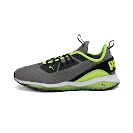 Cell Descend Weave Running Shoes, CASTLEROCK-Black-Yellow, small-IND