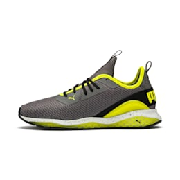 Cell Descend Weave Running Trainers, CASTLEROCK-Black-Yellow, small-IND