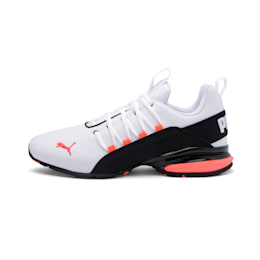 Axelion Rip Men's Running Shoes, White-Black-Nrgy Red, small-IND