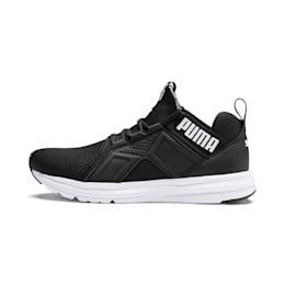 Enzo Sport Men's Trainers, Puma Black-Puma White, small