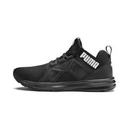 Enzo Sport Men's Trainers, Puma Black-Puma Black, small