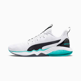 LQDCELL Tension Men's Training Shoes, Puma White-Blue Turquoise, small