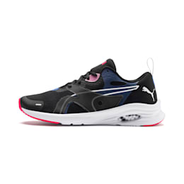 Damskie buty do biegania HYBRID Fuego, Black-Blue Glimmer-Nrgy Rose, small