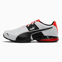 Cell Surin 2 Wide Men's Training Shoes, Pma Wht-Pma Blk-Flme Scarlet, small
