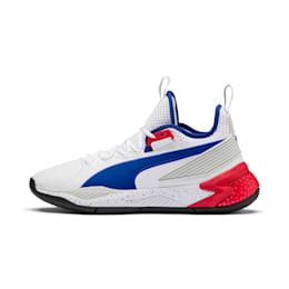 Uproar Palace Guard Men's Basketball Shoes, Puma White-Surf The Web, small