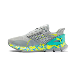 HYBRID NETFIT Astro Women's Running Shoes, Quarry-Yellow Alert, small