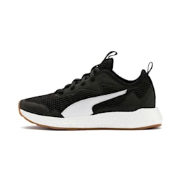 NRGY Neko Skim Youth Trainers, Puma Black-Puma White, small
